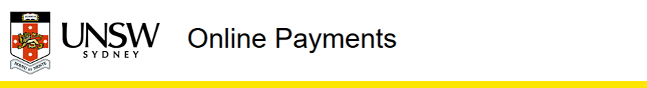 UNSW Online Payments